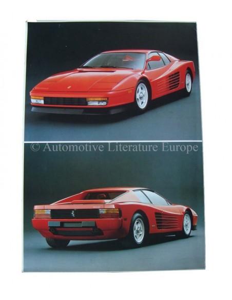 1984 FERRARI TESTAROSSA BROCHURE 326/84