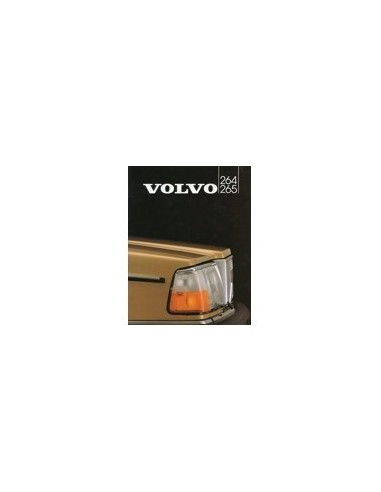 1982 VOLVO 264 265 BROCHURE NEDERLANDS