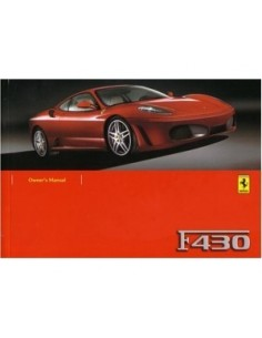 2007 FERRARI F430 OWNERS MANUAL HANDBOOK ENGLISH