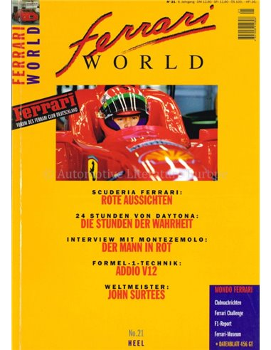 1996 FERRARI WORLD MAGAZINE 21 GERMAN