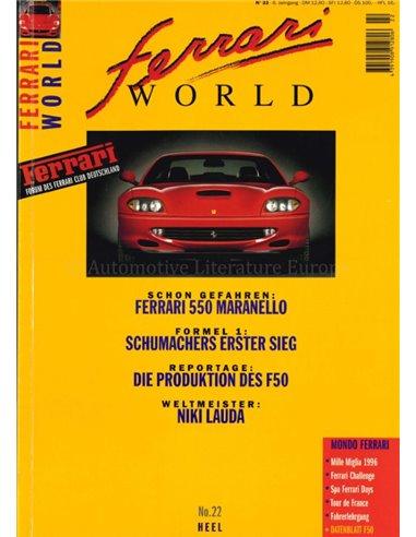 1996 FERRARI WORLD MAGAZINE 22 GERMAN