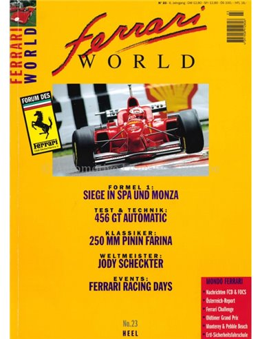 1996 FERRARI WORLD MAGAZINE 23 GERMAN