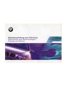 1999 BMW 5 SERIES OWNERS MANUAL HANDBOOK GERMAN