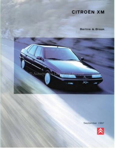 1997 CITROEN XM BROCHURE DUTCH