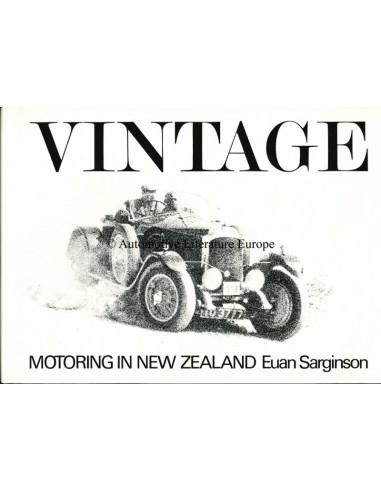 1972 VINTAGE MOTORING IN NEW ZEALAND - EUAN SARGINSON - BOOK