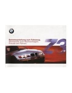 2000 BMW Z3 INSTRUCTIEBOEKJE DUITS