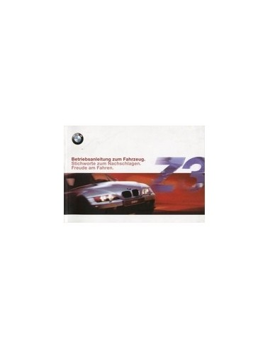 2000 bmw z3 owners manual handbook german automotive literature europe rh autolit eu 2001 BMW Z3 BMW I8