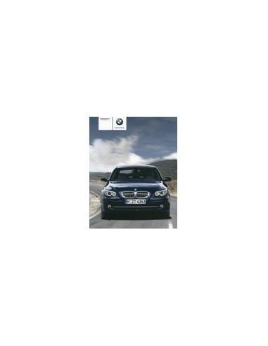 2007 BMW 5 SERIE INSTRUCTIEBOEKJE DUITS