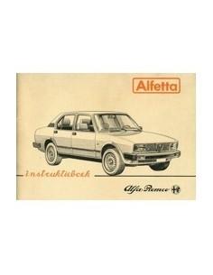 1981 ALFA ROMEO ALFETTA OWNER'S MANUAL DUTCH