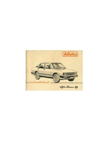 1981 ALFA ROMEO ALFETTA INSTRUCTIEBOEKJE NEDERLANDS
