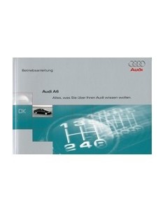1997 AUDI A6 OWNERS MANUAL HANDBOOK GERMAN