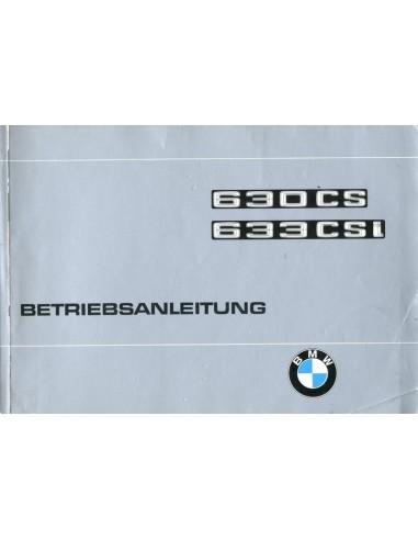 1976 BMW 6 SERIE INSTRUCTIEBOEKJE DUITS
