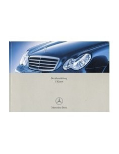 2003 MERCEDES BENZ C CLASS OWNERS MANUAL GERMAN