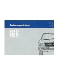 1984 MERCEDES BENZ SL CLASS OWNERS MANUAL HANDBOOK GERMAN