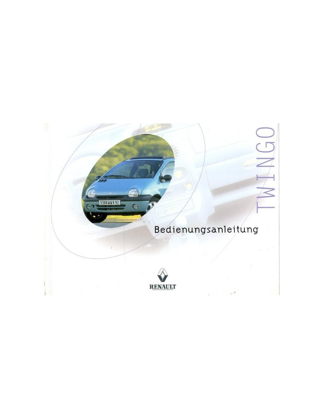 20010 renault twingo owner 39 s manual german. Black Bedroom Furniture Sets. Home Design Ideas