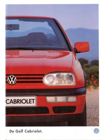 1996 VOLKSWAGEN GOLF CABRIOLET BROCHURE NEDERLANDS