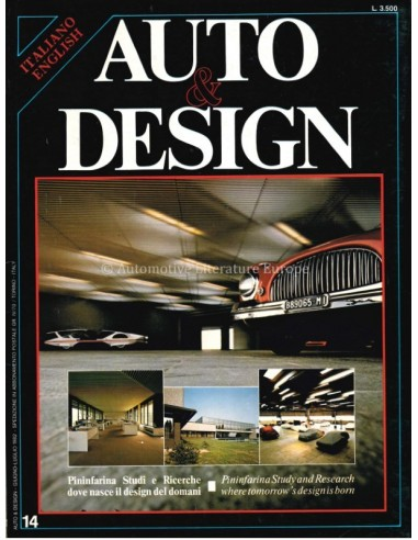 1982 AUTO & DESIGN MAGAZINE ITALIAN &...