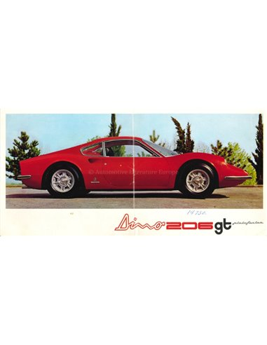 1968 FERRARI DINO 206GT BROCHURE 20/68