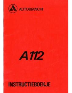 1980 AUTOBIANCHI A112 INSTRUCTIEBOEKJE NEDERLANDS