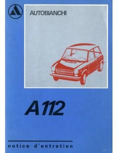 1972 AUTOBIANCHI A112 INSTRUCTIEBOEKJE FRANS