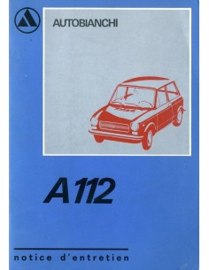 1972 AUTOBIANCHI A112 OWNERS MANUAL FRENCH