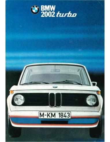 1973 BMW 2002 TURBO BROCHURE ENGLISH