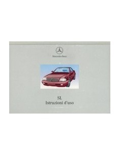 1999 MERCEDES BENZ SL CLASS OWNERS MANUAL HANDBOOK ITALIAN
