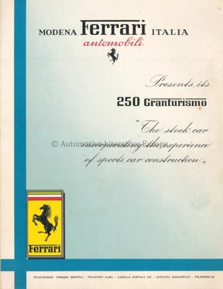 1956 FERRARI 250 GRANTURISMO BROCHURE ENGLISH