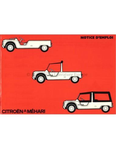 1986 CITROEN MEHARI OWNERS MANUAL FRENCH