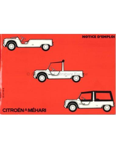 1983 CITROEN MEHARI OWNERS MANUAL FRENCH