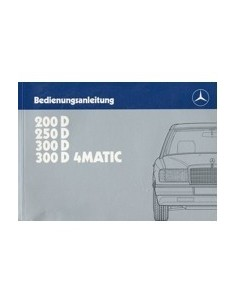 1987 MERCEDES BENZ E CLASS DIESEL OWNERS MANUAL HANDBOOK GERMAN