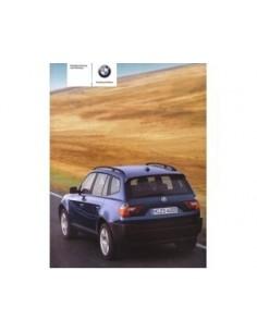 2004 BMW X3 INSTRUCTIEBOEKJE DUITS