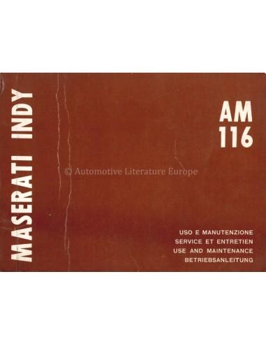 1971 MASERATI INDY INSTRUCTIEBOEKJE...