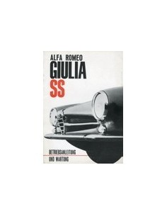1963 ALFA ROMEO GIULIA SS OWNERS MANUAL GERMAN