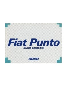1994 FIAT PUNTO INSTRUCTIEBOEKJE ENGELS