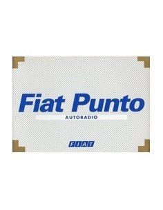 2001 FIAT PUNTO AUTORADIO INSTRUCTIEBOEKJE NEDERLANDS