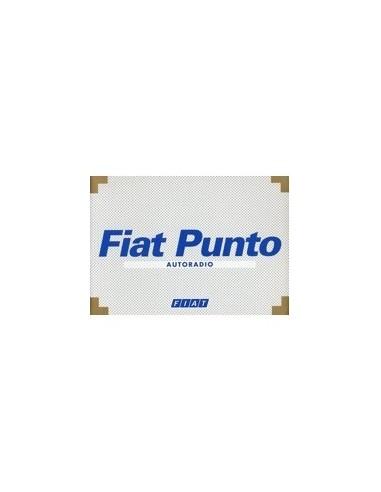 2001 FIAT PUNTO AUTORADIO INSTRUCTIEBOEKJE NEDERLANDS