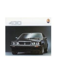 1988 MASERATI 430 BROCHURE FRENCH