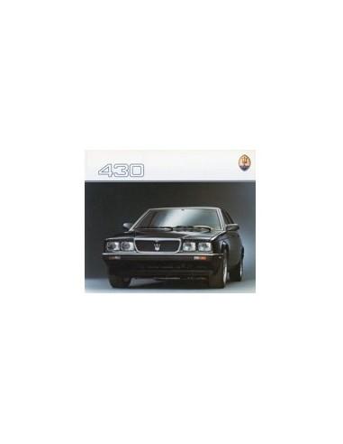 1988 MASERATI 430 BROCHURE FRANS