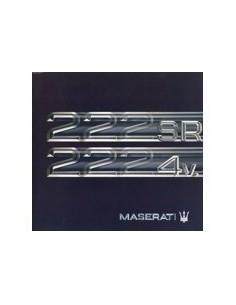 1992 MASERATI 222 SR 4V. BROCHURE FRANS DUITS