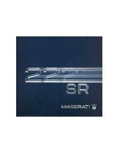 1992 MASERATI 222 SR BROCHURE FRENCH GERMAN