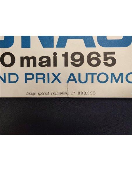 1965 23E GRAND PRIX MONACO AUTOMOBILE ORIGINAL POSTER