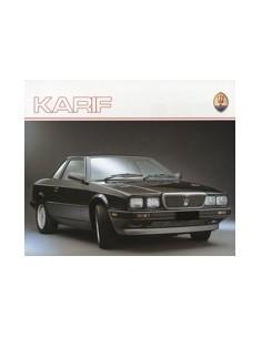 1988 MASERATI KARIF BROCHURE PROSPEKT ENGLISH