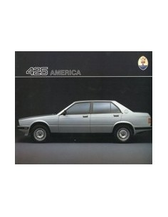 1986 MASERATI 425 AMERICA BROCHURE DUITS