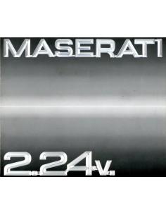 1989 MASERATI 2.24V. BROCHURE ITALIAANS