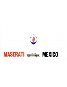 1970 MASERATI MEXICO BROCHURE