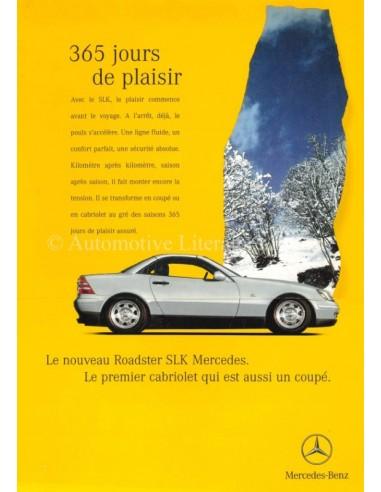 1996 MERCEDES BENZ SLK BROCHURE FRENCH
