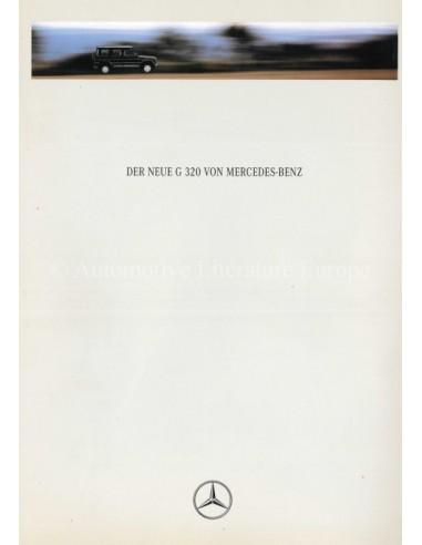 1993 MERCEDES BENZ G CLASS BROCHURE GERMAN
