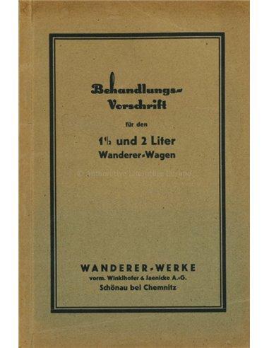 1927 WANDERER OWNERS MANUAL GERMAN