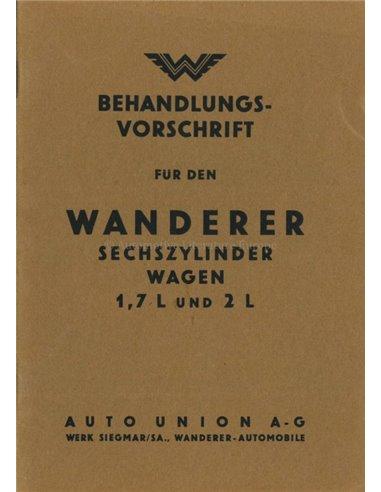 1936 WANDERER OWNERS MANUAL GERMAN